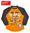 Регланы (топы длинный рукав) детские «Аризона» оранжевые, бренд «Arizona Jeans Co» (США)