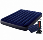 Надувной матрас Intex 64758-2, 137 x 191 x 25 см, с двумя подушками и ручным насосом. Полуторный