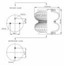 Пневморессора, бублик двойной в сборе (пр-во Airtech) 2B12R-3 M12 /AT,D 220,4229100400 ,FD200-19P04