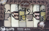 Набор 6 кухонных полотенец Ayben M4813 35х50, вафельные