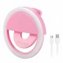Вспышка-подсветка для телефона селфи-кольцо Selfie Ring Light RK-12 Pink