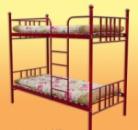 Металлическая кровать двухярусная с матрасами