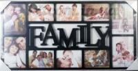 Мультирамка Family на 10 фото черная