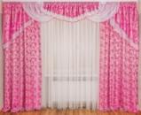 Ламбрекен со шторами для спальни «Моника»