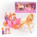 Карета 258036 (6) кукла, лошадь, муз, свет, на бат-ке, в кор-ке