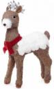 Новогодний декор «Олень в шарфике» 55см из натуральных материалов