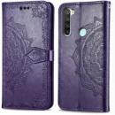 Кожаный чехол (книжка) Art Case с визитницей для Xiaomi Redmi Note 8T Фиолетовый