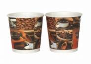 Бумажные стаканы 182 мл кофейные зерна