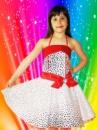 Прокат платья «Стиляги» белое с красным на 5-6 лет