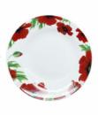 Тарелка суповая полупорционная «Червоний мак» круглая 21см