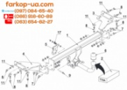 Тягово-сцепное устройство (фаркоп) Kia Sportage (2016-2018)