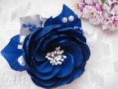 заколка синий цветок