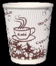 Бумажный стаканчик с гофро стенками (250 мл)