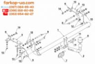 Тягово-сцепное устройство (фаркоп) Mitsubishi ASX (дизель) (2010-2019)