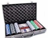 Покерный набор в алюминиевом кейсе 300 фишек