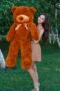 Большой плюшевый медведь Тедди 140 см коричневый