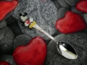 Детская сувенирная ложка Микки Маус. Серебро + эмаль.