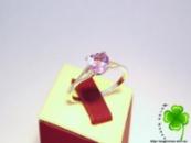 Кольцо серебро 925, природный Аметист - сердце