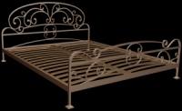 Конструкция кованых кроватей с ламелевым каркасом.