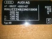 Дублирующие таблички (шильды) на авто AUDI любой модели и кузова