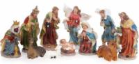 Рождественский декоративный набор «Вертеп» 11 фигур 16см