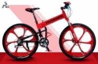 Элитный Велосипед HUMMER Red на литых дисках