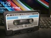 Наклейка №2 для аудио кассеты ,,демонстрационная кассета SHARP,,