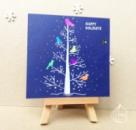 Новогодняя открытка неоновые птички