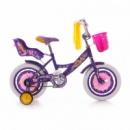 Велосипед двухколёсный Azimut 14« GIRLS сиреневый