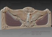 3D модель для (чпу) спинка для кровати