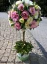 Цветочное дерево из эустомы и зелени №1