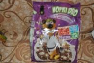 сухий сніданок Хоркі з шоколадними та молочними кульками