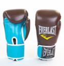 Перчатки для тайского бокса EVERLAST SHOCK 10oz коричневый-голубой