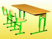 Столы, парты ученические Гелика п.2