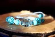 Красивый бирюзовый браслет подарок на Новый год для девушки, мамы или подруги! Доставка бесплатно!