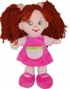 Кукла тканевая Анюта (в платье из розового плюша)