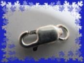 Серебряный замок, серебряная застежка для цепочки или браслета 925 проба 9 мм