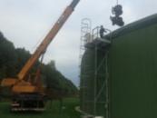 Очистка биогазовой установки от биомассы