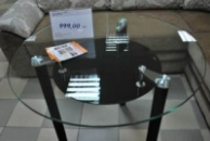 Cтеклянные столы на кухню B225, стол обеденный стеклянный B225 киев купить, стеклянный столик, стол на кухню стеклянный