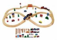 Деревянный конструктор Железная дорога 49 деталей 56304 Viga Toys