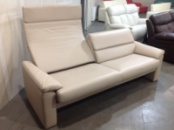 Уникальный кожаный диван с раскладной спинкой. Германия