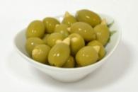 Крупные зеленые оливки Халкидики (Halkidiki) фаршированные миндалем