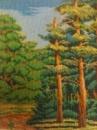 Картина бисером Лес