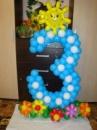 цифра 3 из маленьких шаров