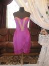 Вечернее платье цвета фукси