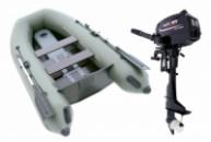 Комплект лодка Parsun 3м узкий привальник + мотор T3.6