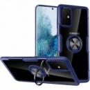 TPU+PC чехол Deen CrystalRing под магнитный держатель (opp) для Samsung Galaxy A71 Бесцветный / Синий