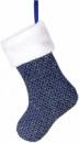 Носок для подарков «Блестящий синий» 43см