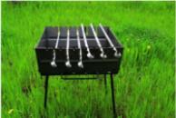 Мангал чемодан на 8 шампуров (УК-М8)