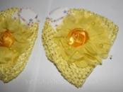Для девочек летние шапочки с цветами